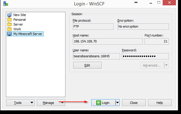 Configuring an FTP client for Minecraft - Knowledgebase